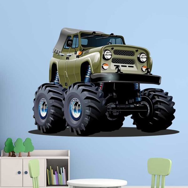 Stickers for Kids: Monster Truck Jeep