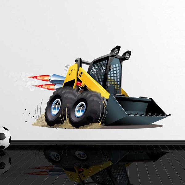 Stickers for Kids: Mini-loader at work
