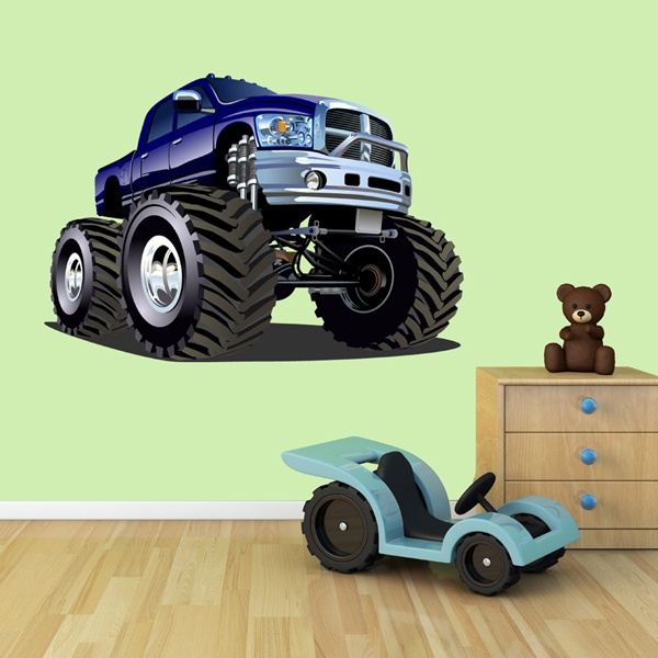 Stickers for Kids: Monster Truck dark blue