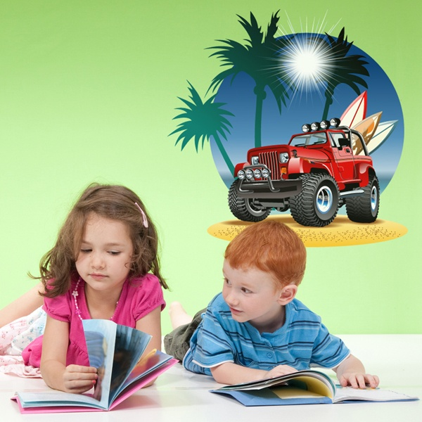 Stickers for Kids: All-terrain on the beach