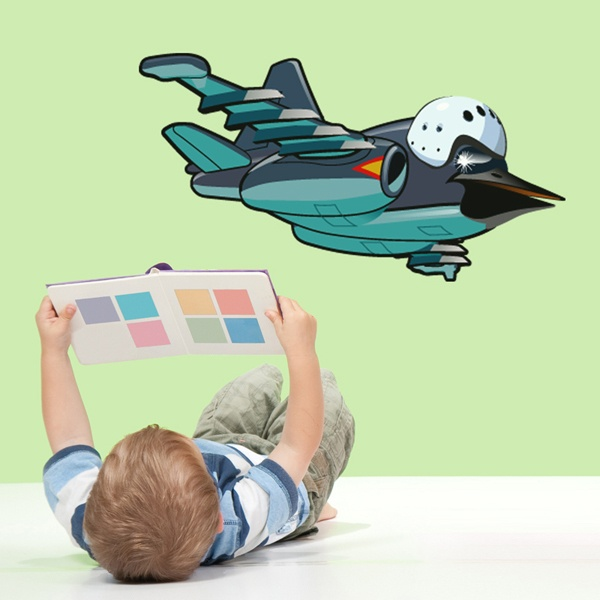 Stickers for Kids: Airplane with bird's head