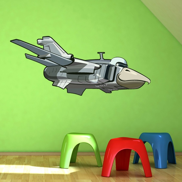 Stickers for Kids: Airplane with falcon head