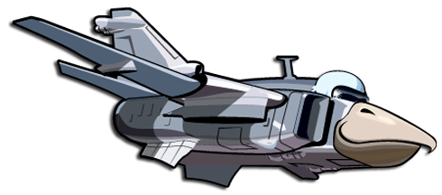 Stickers for Kids: Plane headed bird 2