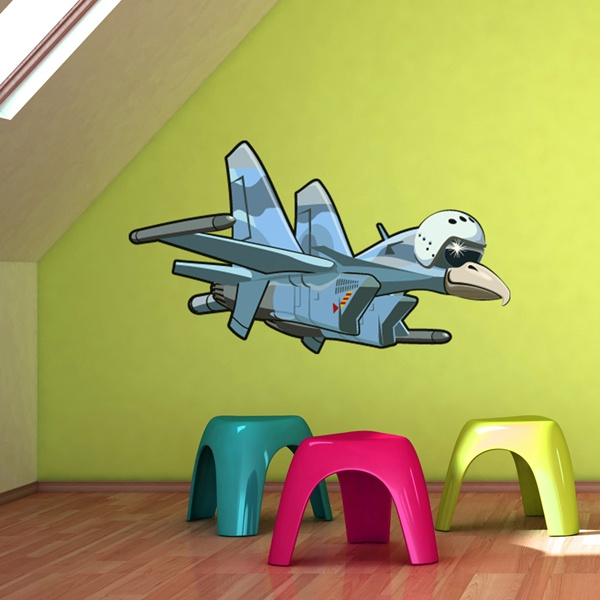 Stickers for Kids: Airplane with eagle's head