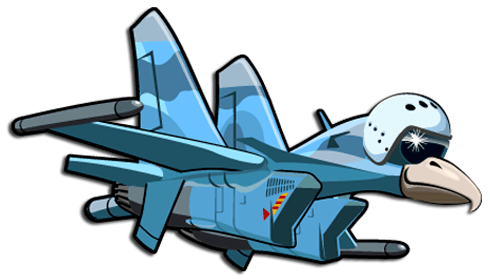 Stickers for Kids: Plane headed bird 3