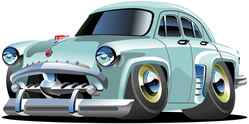 Stickers for Kids: Classic car 0