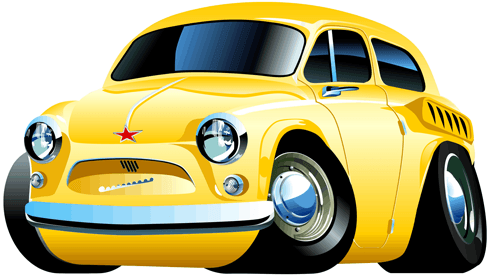 Stickers for Kids: Classic car 2