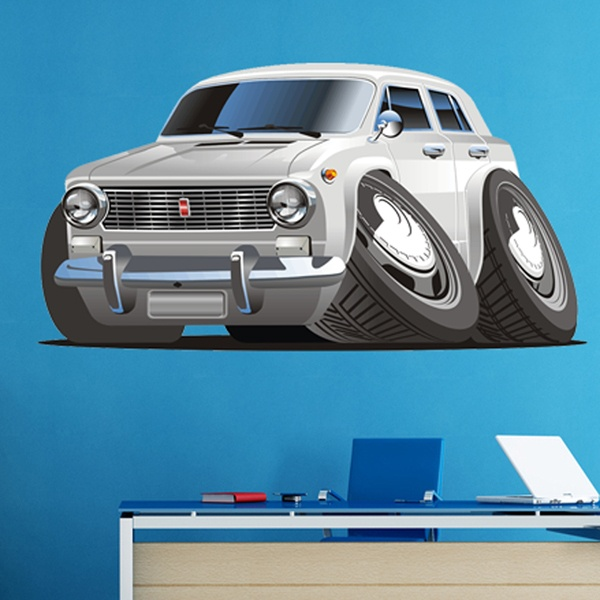Stickers for Kids: Silver classic car
