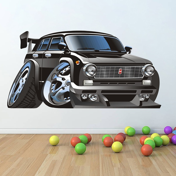 Stickers for Kids: Classic car black