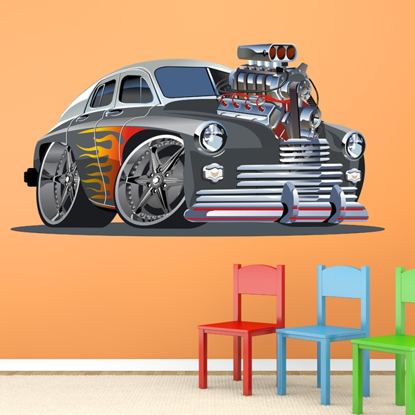 Stickers for Kids: Classic car tuning
