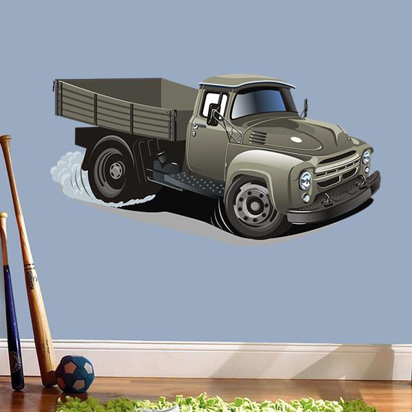 Stickers for Kids: Old transport truck