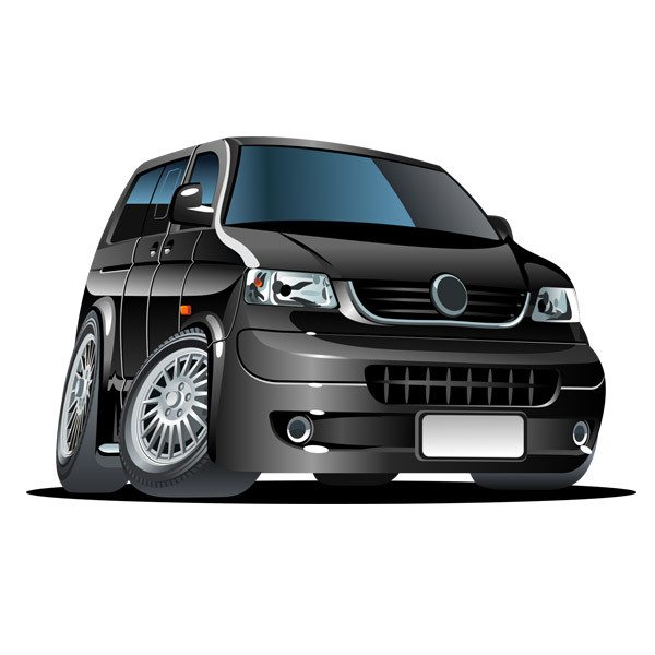 Stickers for Kids: Black van