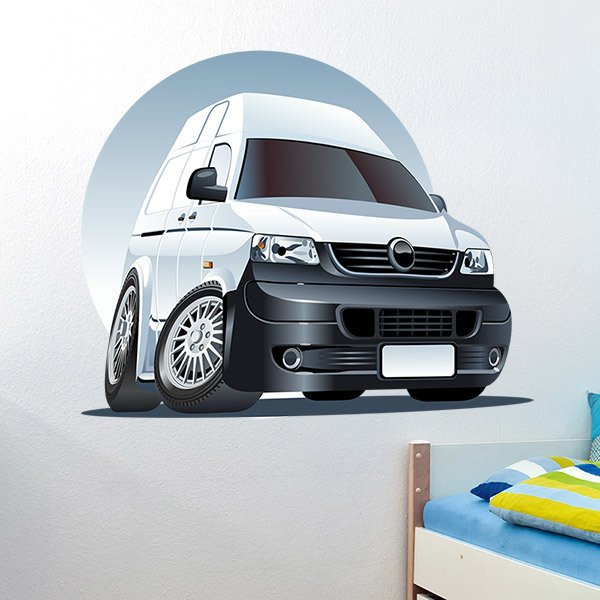 Stickers for Kids: White van 2