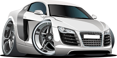 Stickers for Kids: White sports car 0