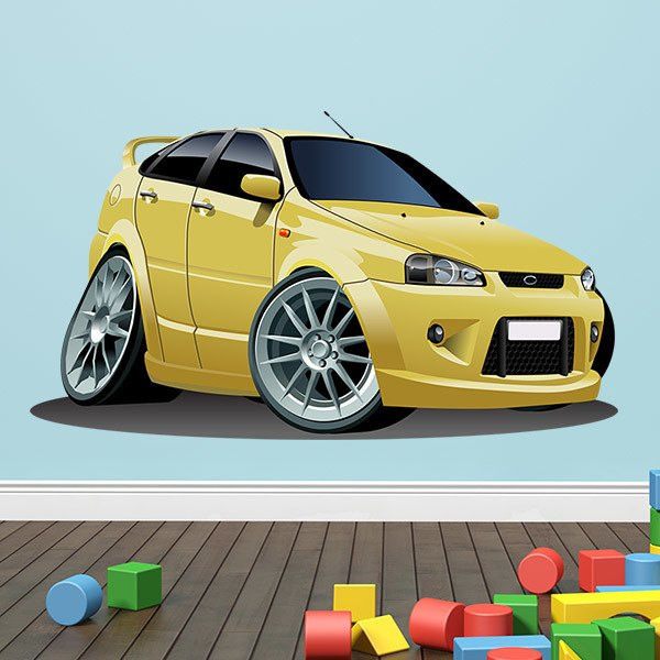Stickers for Kids: Yellow Ford car