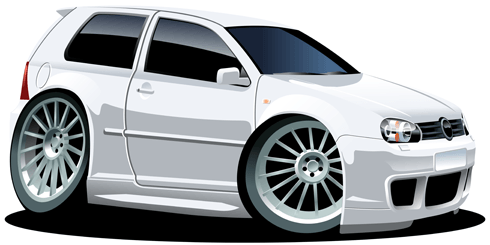 Stickers for Kids: White car