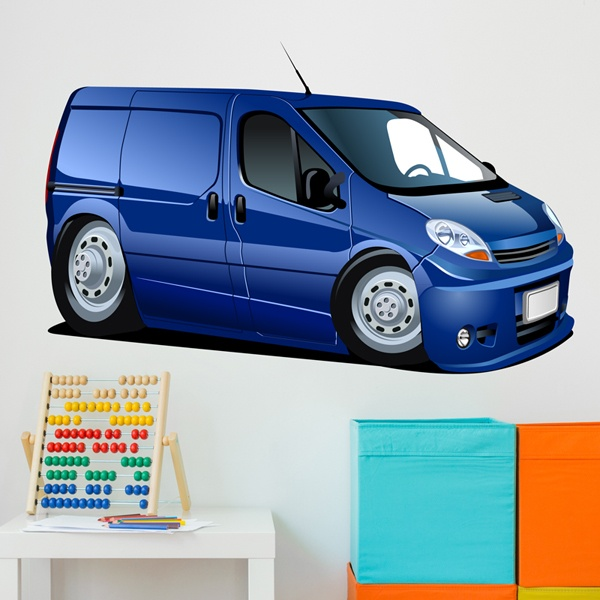 Stickers for Kids: Blue van