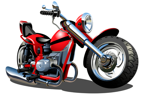 Stickers for Kids: Moto Harley 1
