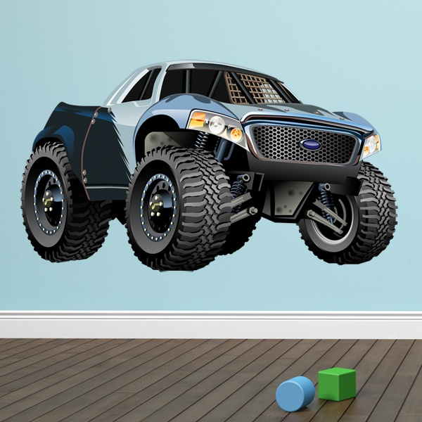 Stickers for Kids: Monster Truck Ranchera Ford