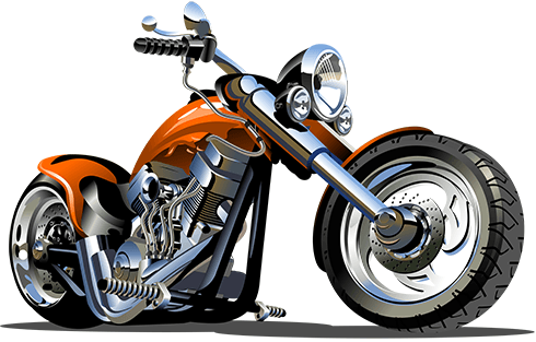 Stickers for Kids: Moto Harley 2