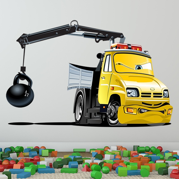 Stickers for Kids: Truck crane ball