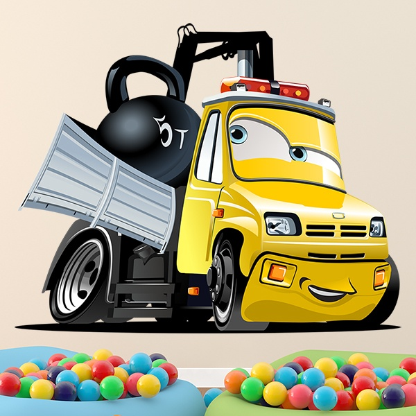Stickers for Kids: Truck crane