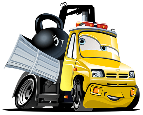 Stickers for Kids:  Truck Crane Ball 2