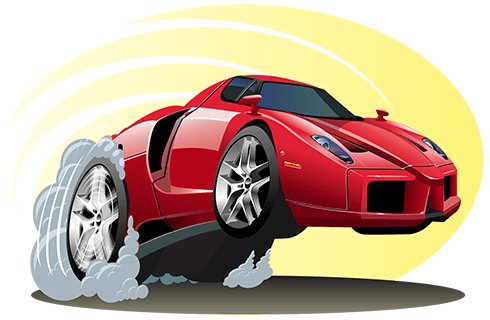 Stickers for Kids: red sports car
