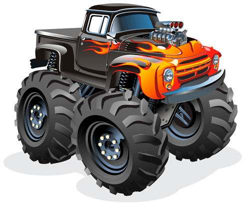 Kids Wall Sticker Monster Truck Ranchera Fire Muraldecal Com