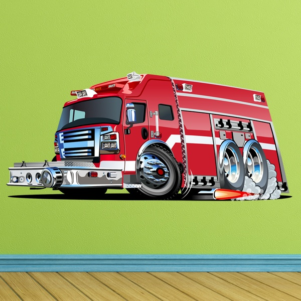 Stickers for Kids: Fire Truck to the Rescue