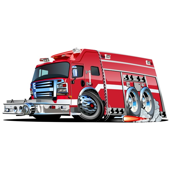 Stickers for Kids: Fire truck 7