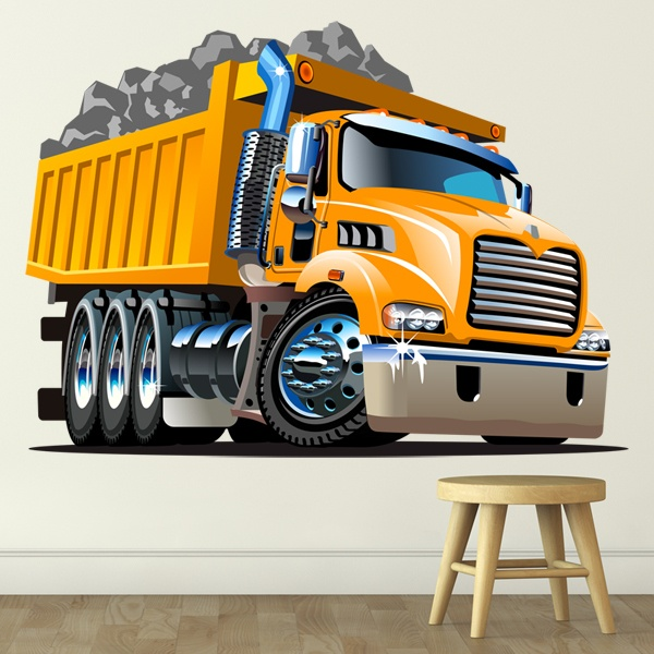 Stickers for Kids: Loaded construction truck