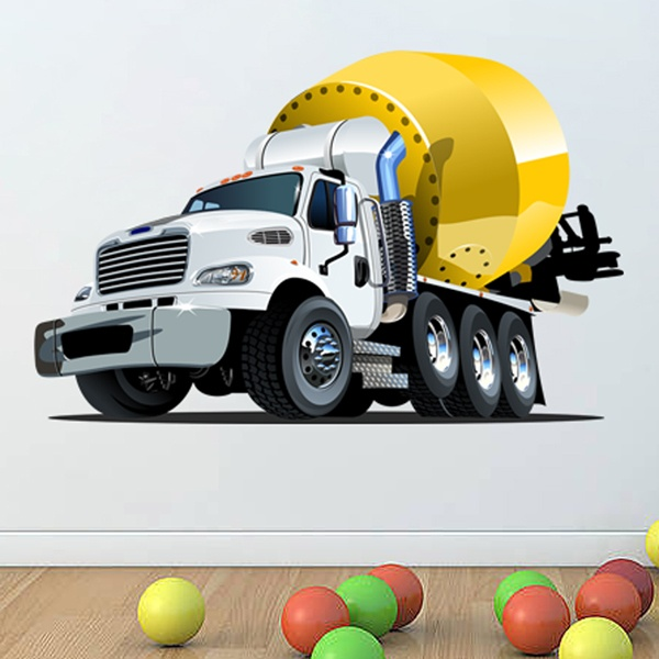 Stickers for Kids: Concrete tank truck 1