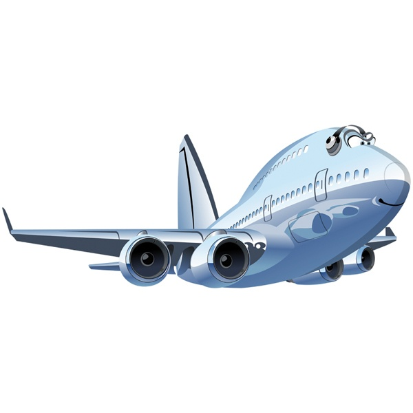 Stickers for Kids: Commercial plane 3