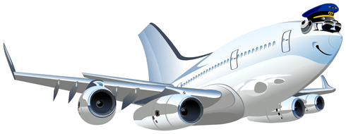 Stickers for Kids: Commercial plane 4