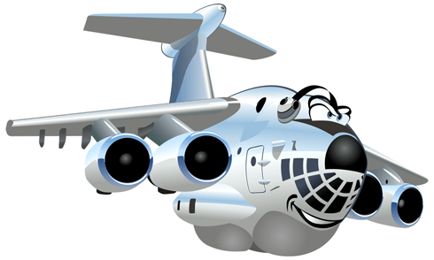 Stickers for Kids: Heavy Transport Aircraft 0
