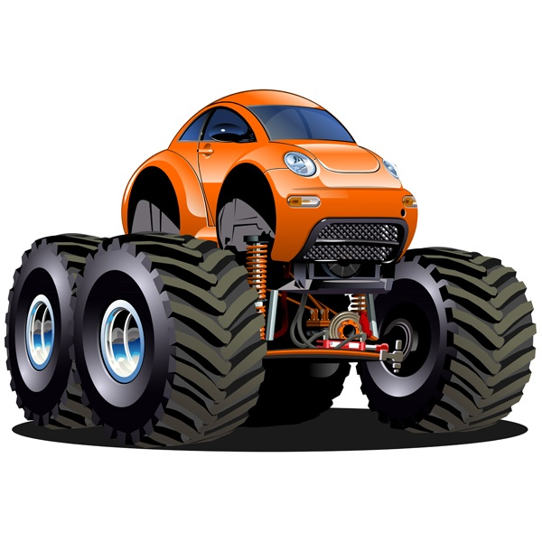 Stickers for Kids: Monster Truck 24