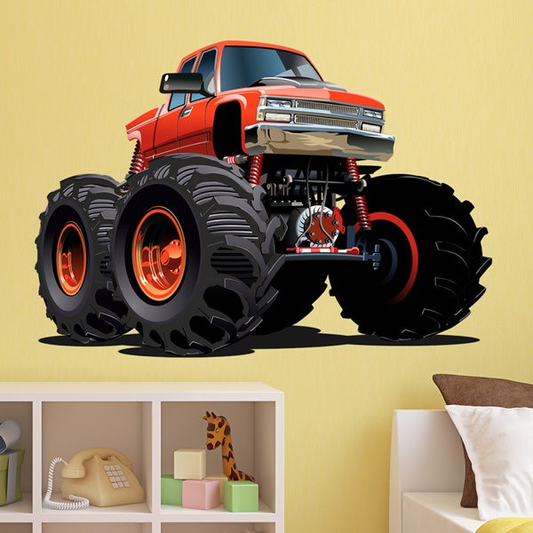 Stickers for Kids: Monster Truck orange