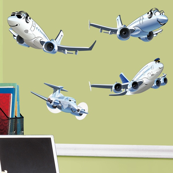 Stickers for Kids: Passenger Aircraft Kit