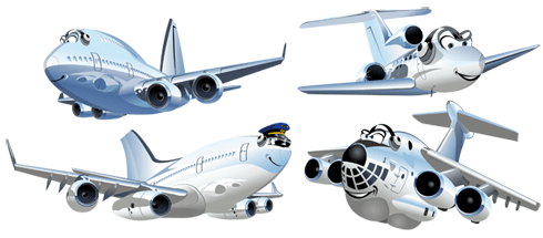 Stickers for Kids: Funny Passenger Aircraft Kit
