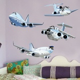 Stickers for Kids: Funny Passenger Aircraft Kit 3