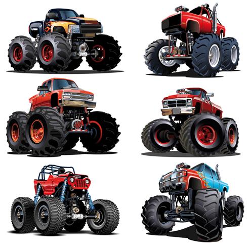 Stickers for Kids: Monster Truck Kit