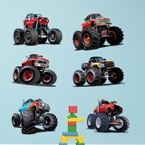 Stickers for Kids: Monster Truck Kit 3