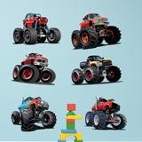 Stickers for Kids: Monster Truck Kit 3