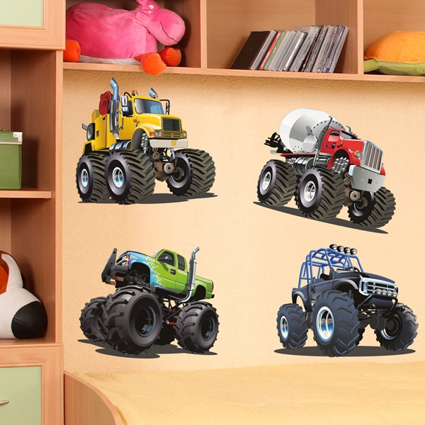 Stickers for Kids: Monster Truck Kit 2