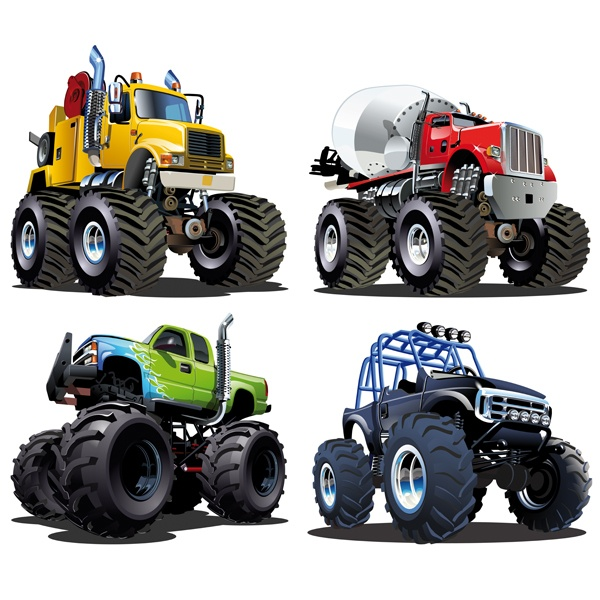 Stickers for Kids: Kit Monster Truck Big