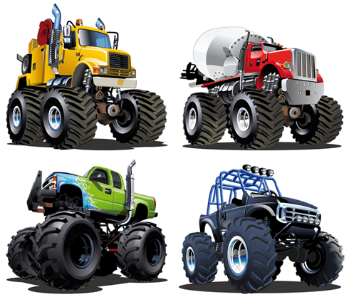 Stickers for Kids: Monster Truck Kit 2