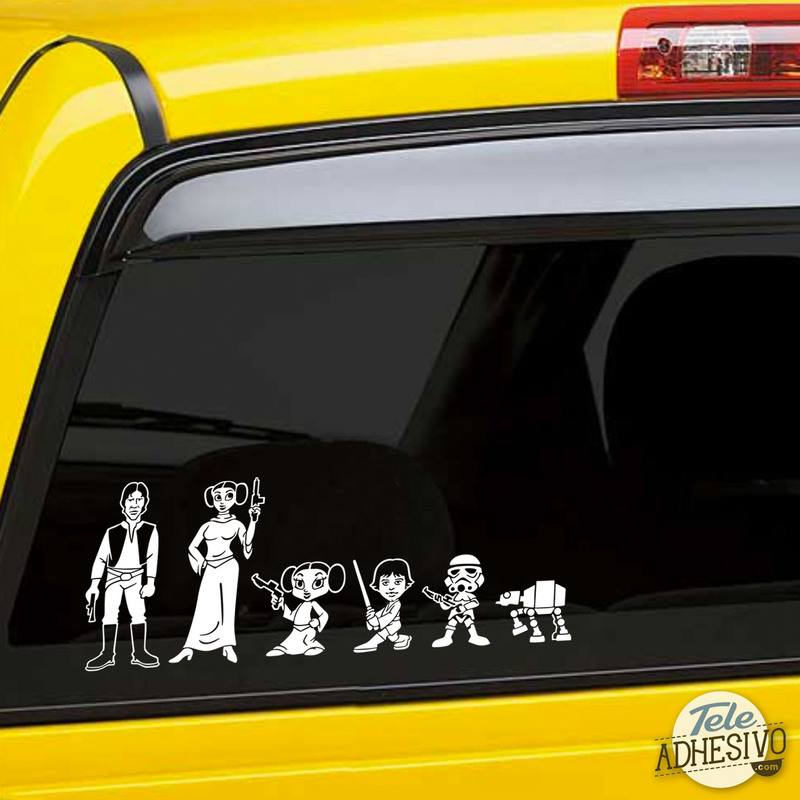 Car & Motorbike Stickers: Father Luke Skywalker 2