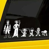 Car & Motorbike Stickers: Father Luke Skywalker 3
