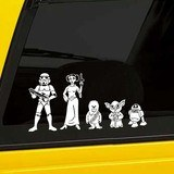 Car & Motorbike Stickers: Father Luke Skywalker 4